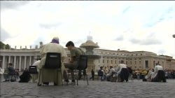Pope Francis Surprises Youths Confessing in St. Peters Square