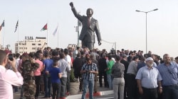 Giant Nelson Mandela Statue Unveiled in West Bank