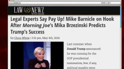 Breaking: Barnicle's gotta buy Mika a truck
