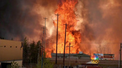 Monster Canadian Wildfire Grows, Leave Apocalyptic Scenes in Path