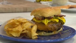 This Cajun style burger is almost too hot for KLG and Hoda!
