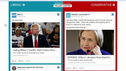 Facebook: Blue feed, red feed