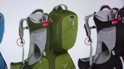 Child backpack carriers recalled due to fall hazard