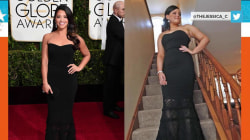 Gina Rodriguez of 'Jane the Virgin' lends fan her dress for prom