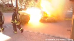 Dramatic Manhole Blast Caught on Camera
