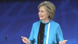 Clinton Says Trump Should Talk Less, Listen More