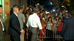 Obama Greets Screaming Fans Outside Hanoi Restaurant