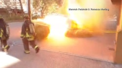 Manhole Cover Explosion Caught on Video