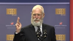 David Letterman Teases President, VP at USO Celebration