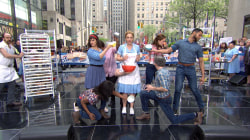 Cast of Sara Bareilles' 'Waitress' performs on the TODAY plaza