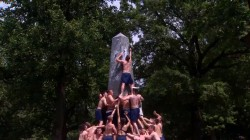 Herndon climb: Watch plebes try to scale greased monument