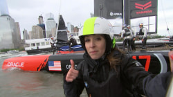 Sail away! Go on the water with Team Oracle ahead of the America's Cup