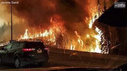 Out-of-Control Wildfire Forces Evacuation of Entire Canadian City