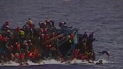 Italian Navy Video Captures Migrant Boat Capsizing