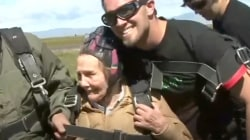 Grandma goes skydiving to celebrate her 90th birthday