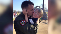 Marine dad celebrates holidays he'll miss with his son while deployed