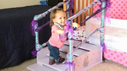 Strangers build stairs for 2-year-old with dwarfism