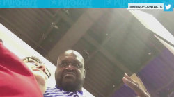 Watch Shaquille O'Neal catch fan secretly recording him