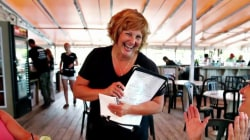 Maine governor's wife takes summer job as a waitress