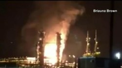 Mississippi gas plant explosion caught on video