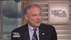 """Tim Kaine: """"Nobody Should Ever Say They're Ready"""" to be President"""