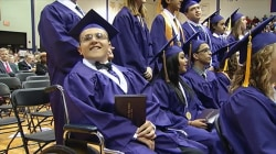 Teen With Multiple Sclerosis Inspires Grads by Walking