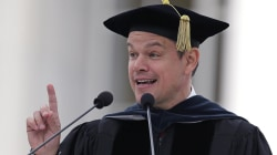 Actor Matt Damon Blasts Big Banks at M.I.T. Graduation