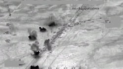 Video Purports to Show Airstrike on ISIS Convoy in Iraq