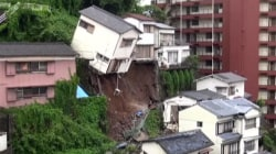 Caught on Camera: House Topples Over After Landslide