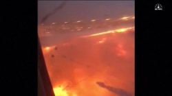 Caught on Camera: Singapore Airlines Jet Catches Fire