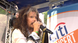 Steven Tyler performs new song 'We're All Somebody from Somewhere'
