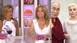 KLG, Hoda: Lady Gaga (and her cleavage) meet Dalai Lama