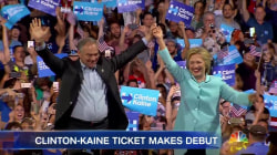 Clinton-Kaine Ticket Makes Debut to Supporters in Miami