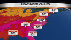 Northeast hit by severe storms as temperatures soar across US