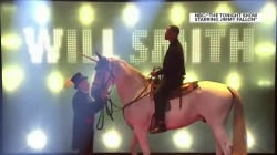 Watch Will Smith enter 'The Tonight Show' on a unicorn