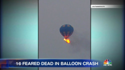 More Than a Dozen Dead After Hot Air Balloon Crashes in Texas