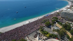 Drone Shows Massive Scale of Nice Memorial