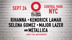 Rihanna, Selena Gomez, Metallica top Global Citizen lineup