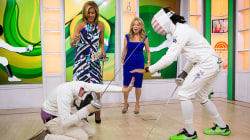En garde! Olympian Jason Pryor teaches KLG, Hoda to fence