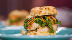 Chicken and buttermilk biscuit sandwiches: Siri Daly shows how to make them