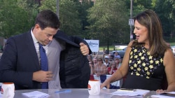 Deodorant discussion has Carson Daly working up a sweat