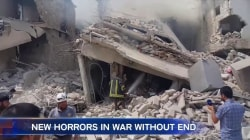 New Horrors as Bomb Falls on Syrian Funeral Procession