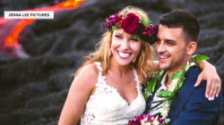 Heating things up: Couple's volcano wedding pics go viral