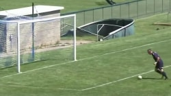 Video: High School soccer player flips over goalie in spectacular fashion