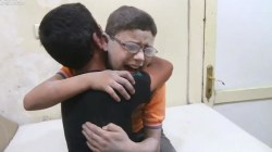 Boys Scream, Cry and Hug After Learning Airstrikes Killed Their Brother