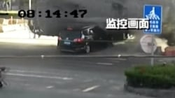 Watch: Couple Miraculously Survives Crash With Cement Truck