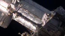 See Astronauts Conduct Spacewalk to Open the Door to the Future