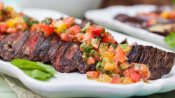 Hanger steak recipe puts TODAY's Garden on the Go veggies to good use
