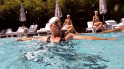 'Aqua Billy' tries his hand at synchronized swimming with Aqualillies