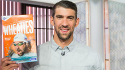 See Michael Phelps react as TODAY unveils his Wheaties box